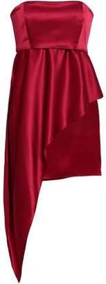 Mason by Michelle Mason Strapless Silk-charmeuse Mini Dress