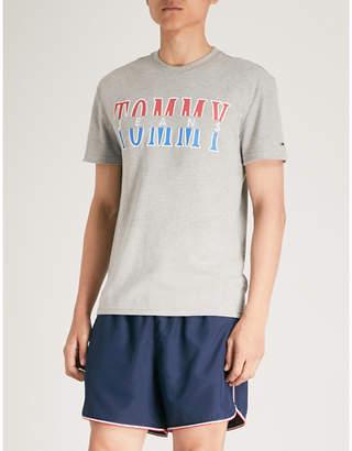 Tommy Jeans Split logo cotton-jersey T-shirt