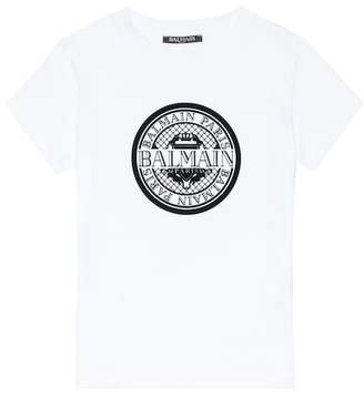 Balmain Kids Logo cotton T-shirt