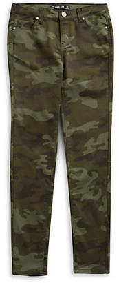 DESIGN LAB Camo Five Pocket Skinny Jeans