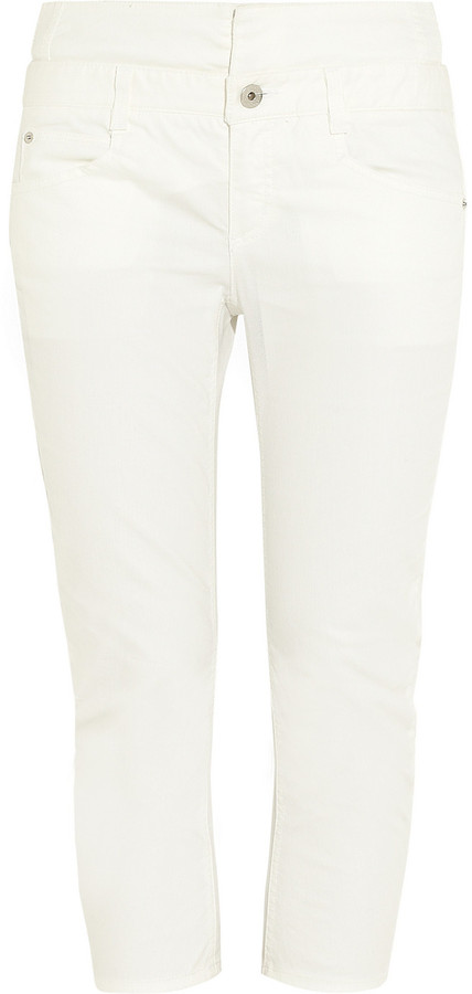 Theyskens' Theory Prony cropped mid-rise skinny jeans