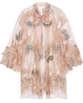 Anna Sui Embellished Jacquard And Tulle Jacket