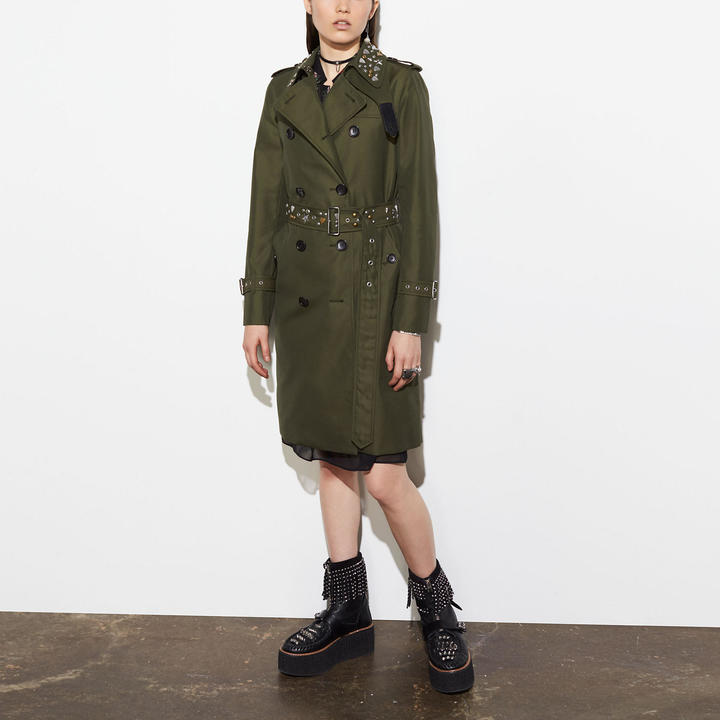 Coach  COACH Coach Icon Trench With Rivets