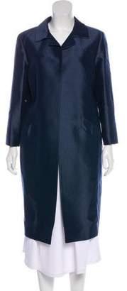 Oscar de la Renta Notch-Lapel Knee-Length Coat