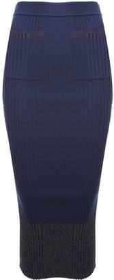 Kenzo Lurex Knit-rib Midi Skirt