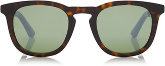 Jimmy Choo BEN Dark Havana Wayfare Sunglasses with Green Mirror Lenses