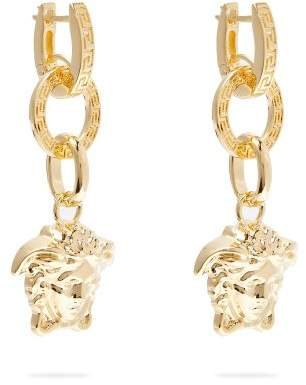Versace Medusa Drop Earrings - Womens - Gold