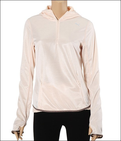 PUMA Long Sleeve Half Zip Hoody Pink Champagne - Apparel