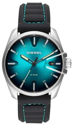 Diesel Men's MS9 Silicone Strap Watch, 44mm