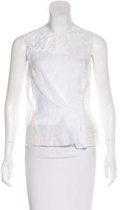 Nina Ricci Ruffled Lace Top