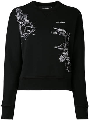 DSQUARED2 embroidered stag sweatshirt