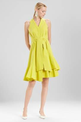 Josie Natori Cotton Poplin Sleeveless Dress