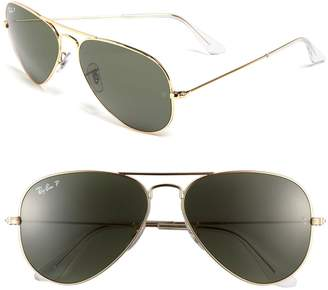 Ray-Ban Original 58mm Aviator Sunglasses
