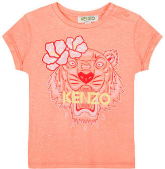 Kenzo Floral Tiger Graphic T-Shirt, Size 5-6