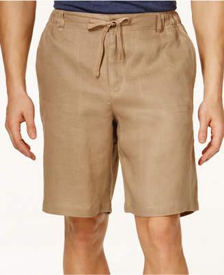 """Tasso Elba Men Linen Drawstring 10"""" Shorts"""