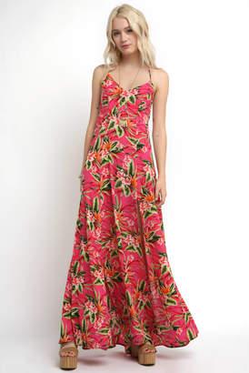 Show Me Your Mumu Nicole Tropical Pebble Tie Back Maxi Dress