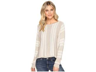 Splendid Bayside Stripe High-Low Pullover Women's Clothing