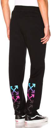 Off-White Off White Gradient Sweatpants in Black & Multicolor | FWRD
