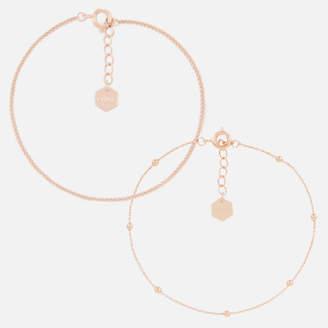Cluse Women's Essentielle Set of Two Fine Bracelets - Rose Gold