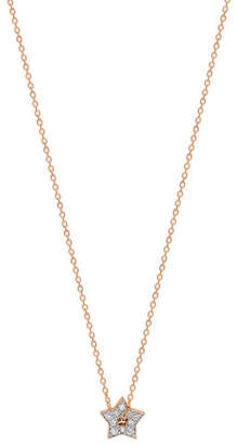 ginette_ny 18k Rose Gold Mini Diamond Milky Way Open Star Necklace