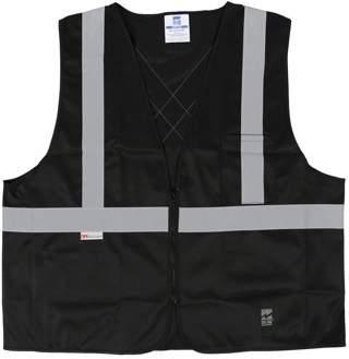 Viking Big Men's Solid Zipper Safety Vest, Pack of 25