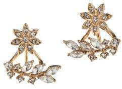 BCBGeneration Keys to My Heart Crystal Floral Earrings
