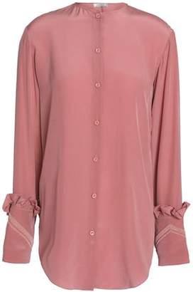 Nina Ricci Bead-Embellished Silk Shirt