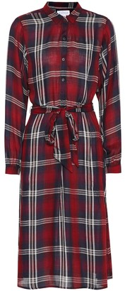 Velvet Tilda plaid midi dress
