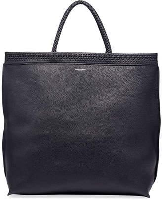 Saint Laurent Men's Leather Tote Bag