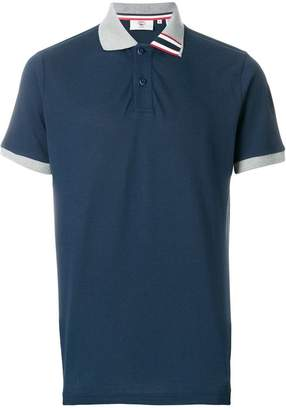 Rossignol contrast collar polo shirt
