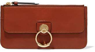 Chloé Tess Leather Wallet - Brown
