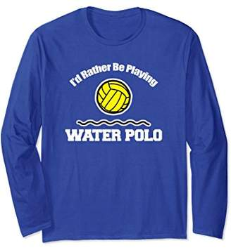 Funny Water Polo T-Shirt Long Sleeve