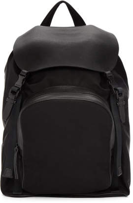 Neil Barrett Black Single Pocket Flap Backpack