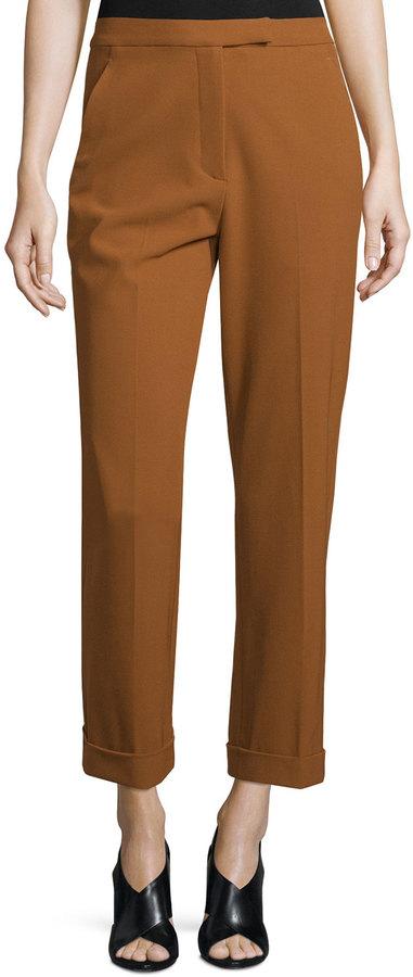 A.L.C.A.L.C. Benji Cropped High-Rise Pants, Amber