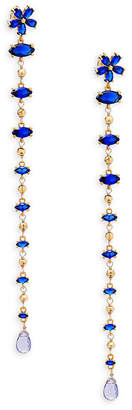 Azaara Crystal & Silver Dangle Earrings