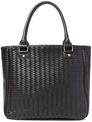 Deux Lux Greenwich Woven Vegan Leather Tote