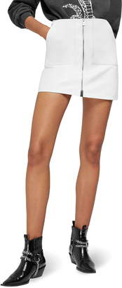 Anine Bing Sally Zip Front Leather Miniskirt