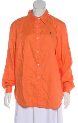 Lauren Ralph Lauren Long Sleeve Button Up Top