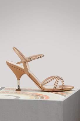 Miu Miu Crystal-detailed sandals