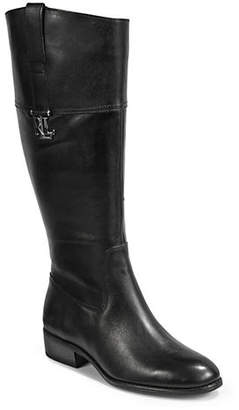 Lauren Ralph Lauren Leather Almond-Toe Tall Boots