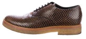 Dries Van Noten Embossed Derby Shoes