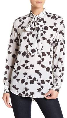 Equipment Carleen Floral Neck Tie Silk Blouse