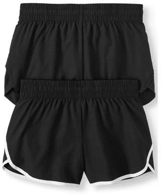 Athletic Works Women's Active Running Short with Hidden Liner 2-Pack Bundle