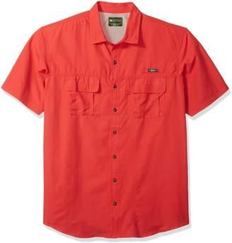 G.H. Bass & Co. Men's Size Explorer Short Sleeve Point Collar Fishing Shirt