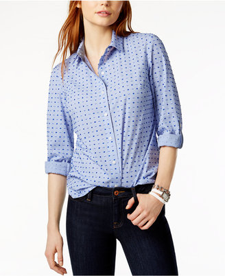 Tommy Hilfiger Cotton Printed Shirt, Only at Macy's $59.50 thestylecure.com