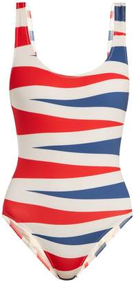 Solid & Striped The Anne Marie backgammon-print swimsuit