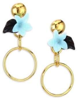 Lele Sadoughi Hibiscus Hoop Drop Earrings xu165M