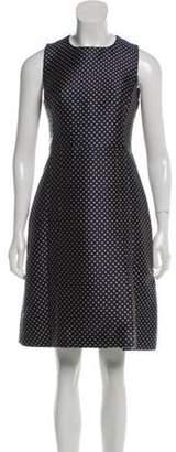 Michael Kors Polka Dot Knee-Length Dress tan Polka Dot Knee-Length Dress