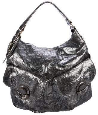 Anya Hindmarch Metallic Crinkled Leather Hobo f97332eb6fe85