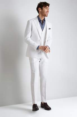 Moss Bros Tailored Fit White Linen Jacket